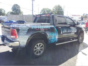 Banins vehicle lettering